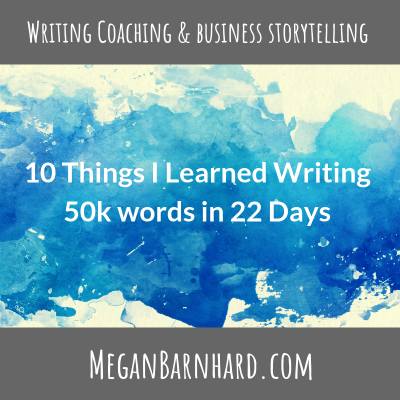 10 Things I Learned Writing 50k words in 22 Days